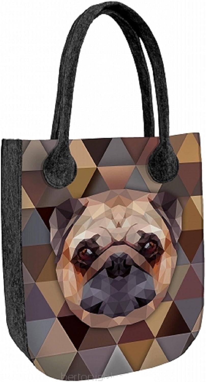 CITY ANTRACYT DOG Felt Bag