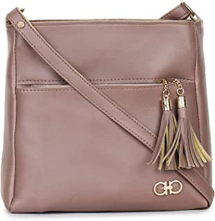 GLOSSY Women's Large Size Sling Bag (Dark Pink)