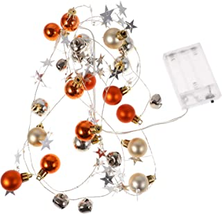 OSALADI Christmas Ball Bell String Lights Plastic Xmas Tree 20 LED Fairy String Lamp for Outdoor Garden Patio Party Holida...