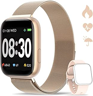 Smartwatch, Reloj Inteligente IP67 con Monitor Rítmo Cardíaco Sueño Podómetro Notificaciones, Reloj Deportivo 1.4 Inch Pantalla Táctil Completa Hombre Mujer para iOS y Android