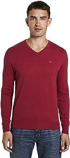 TOM TAILOR Men's Basic V-Neck Pullover Sweater
