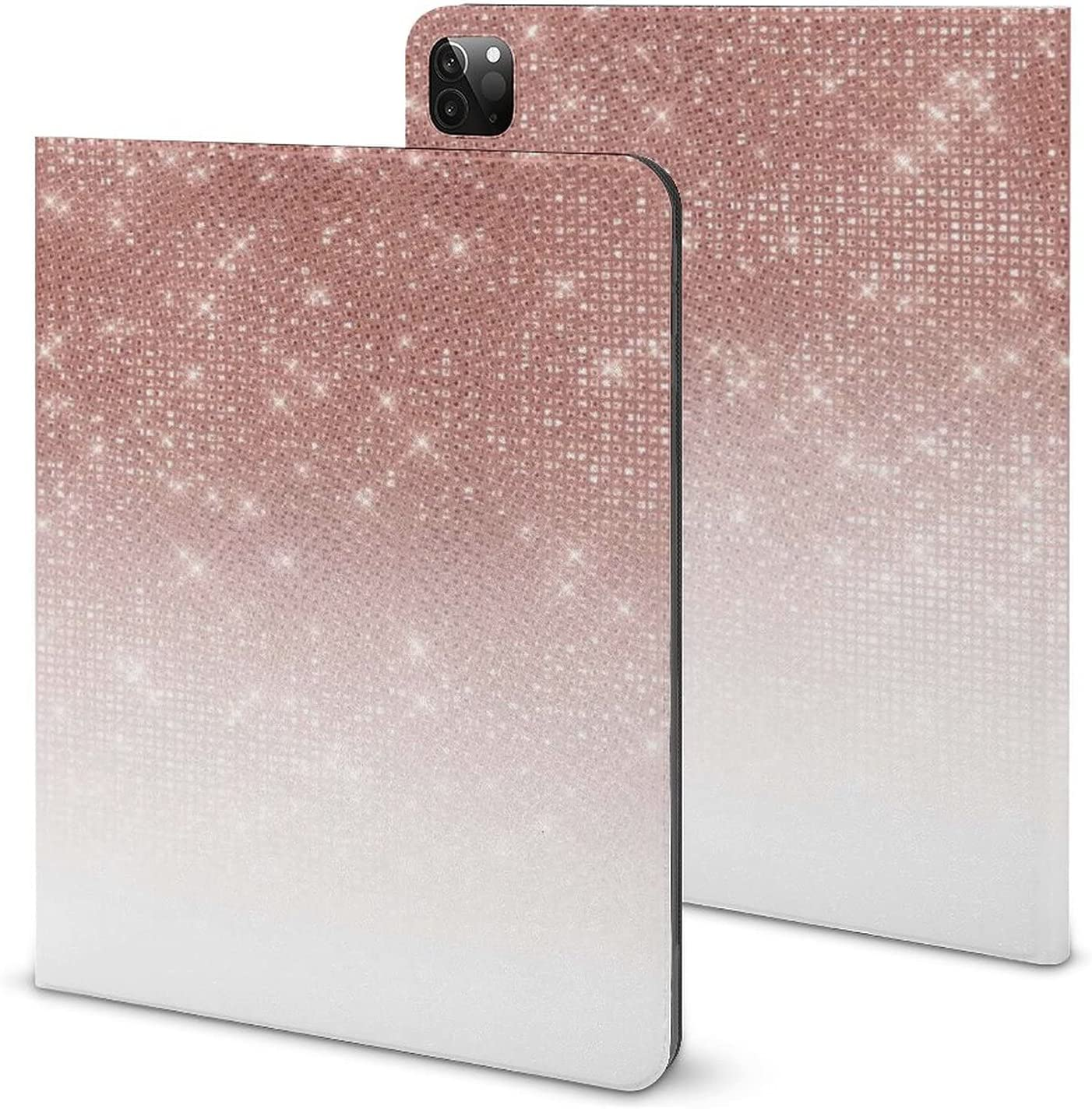Girly Faux Rose Gold Sequin Glitter with P free shipping Max 66% OFF Ipad White Ombre Case