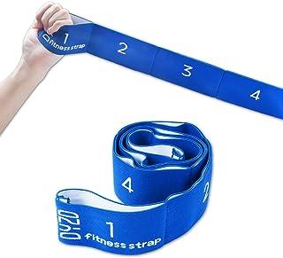 DYZD フィットネスバンド ヨガストラップ トレーニングバンド フィットネスチューブ 筋力トレーニング 弾力が強い (ブルー)
