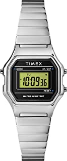 Timex Womens Quartz Watch, Digital Display And Stainless Steel Strap - TW2T48200