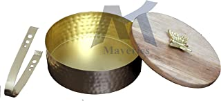 Maverics Wooden Roti Chapati Box Container for Kitchen Air Tight Hot Roti Pot Wood Casserole Insulated Thermos Roti Storag...