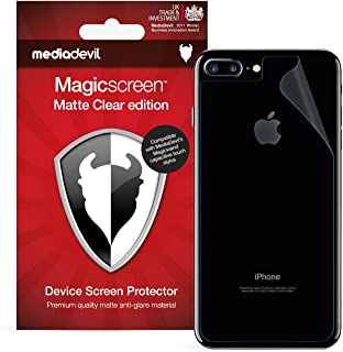 MediaDevil iPhone 8 Plus and iPhone 7 Plus Back (Rear) Screen Protector, Matte Clear [2 x Back Protectors]