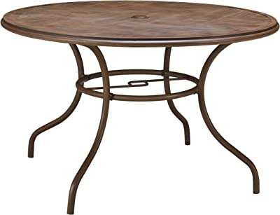 Hanover Faux-Wood Dining Table, Alum