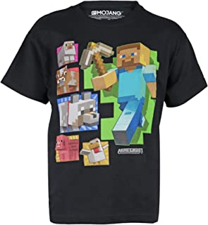 Minecraft Steve and Friends - Camiseta para niños