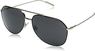 Men's Metal Man Aviator Sunglasses, Black/Pale Gold, 61 mm