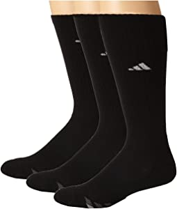 Cushioned 3-Stripe 3-Pair Crew Sock