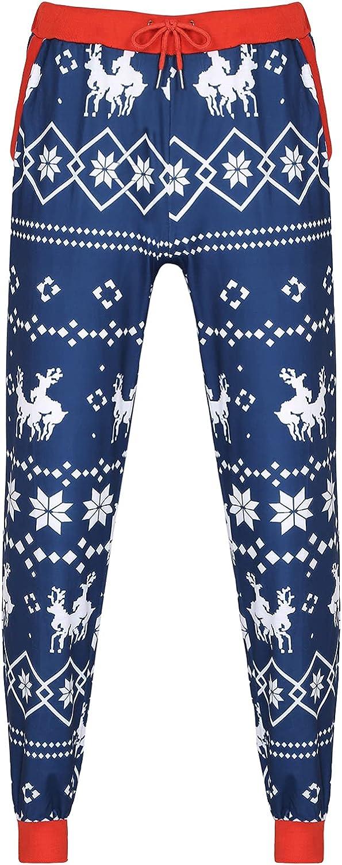 CHICTRY Womens Mens Stretchy Tights Christmas Xmas Winter Santa Snowflakes Deer Print Leggings