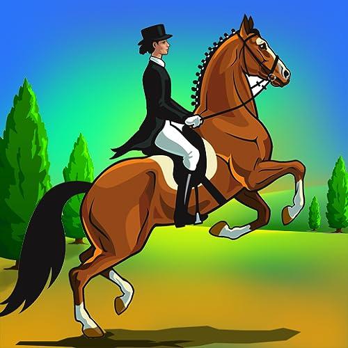 carrera de caballos de montar a la agilidad: el concurso de saltos de obstáculos de doma - edición gratuita