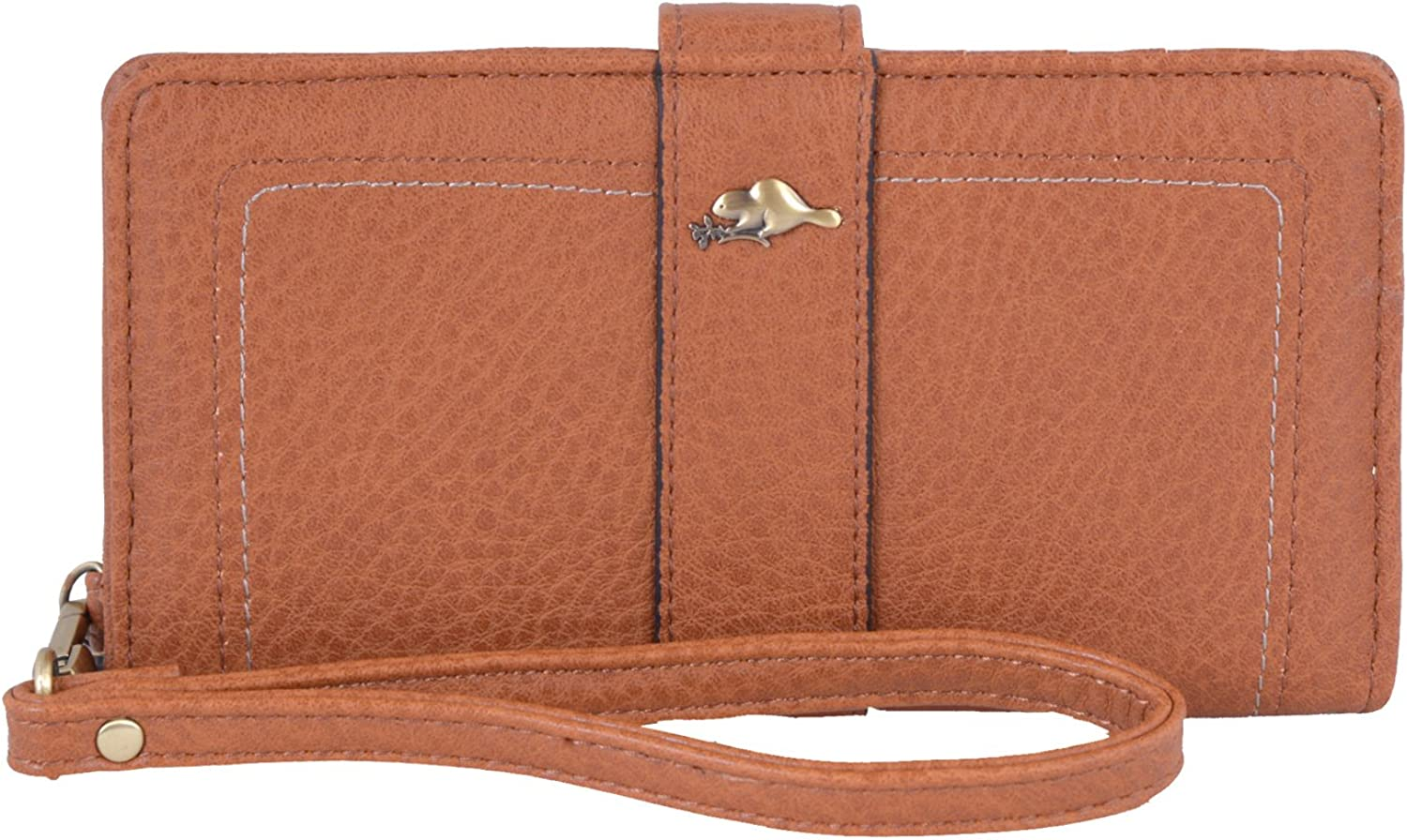 Roots 73 Women's RFID Predected Wristlet Clutch Wallet (Nubuck)