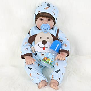 ENA Reborn Baby Doll Realistic Silicone Vinyl Baby 21 inch Weighted Soft Body Lifelike Doll Gift Set for Ages 3+