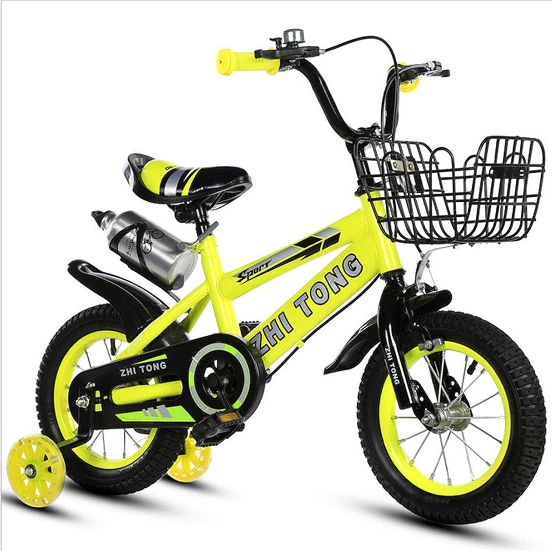 UNIQUE-F Fahrrad Kinder Licht und schne hohe Qualitt 16 Zoll Junge Mdchen 2-6 Jahre alt Baby Flash Assist Rad Stabilitt