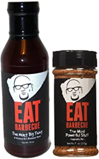 EAT Barbecue Most Powerful Stuff Rub and Next Big Thing BBQ Sauce Combo Pack