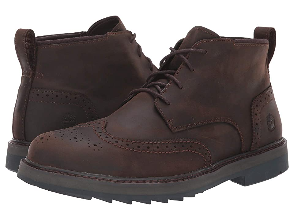 Timberland Squall Canyon Wingtip Waterproof Chukka (Dark Brown Full Grain) Men