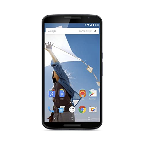 Motorola Nexus 6 GSM Unlocked Cellphone, 32GB, Midnight Blue (Renewed)