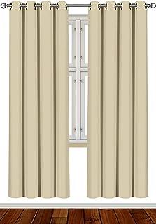 comprar comparacion Utopia Bedding [2 Paneles Cortina Opaca - Cortinas Aislantes Térmicas - con Ojales - (140 x 245 cm, Beige)