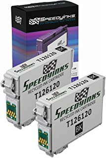 Speedy Inks Remanufactured Ink Cartridge Replacement for Epson 126 High Yield (Pigment Black, 2-Pack)