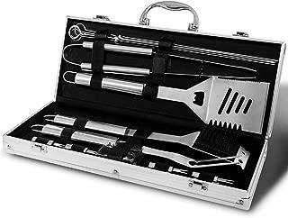 Monbix Professional BBQ Accessories Tool Set,Stainless Steel Grill Accessories Set,BBQ Accessories Barbecue Grill Set - 18 Pcs with Case