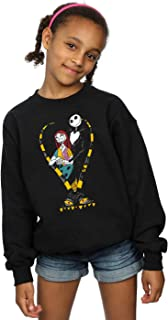Disney niñas Nightmare Before Christmas Jack and Sally Love Camisa De Entrenamiento