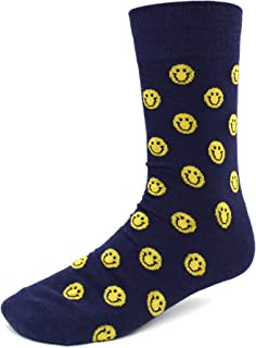 Men's Fun Crew Socks, Sock Size 10-13 / Shoe Size 6-12.5, Great Holiday/Birthday Gift