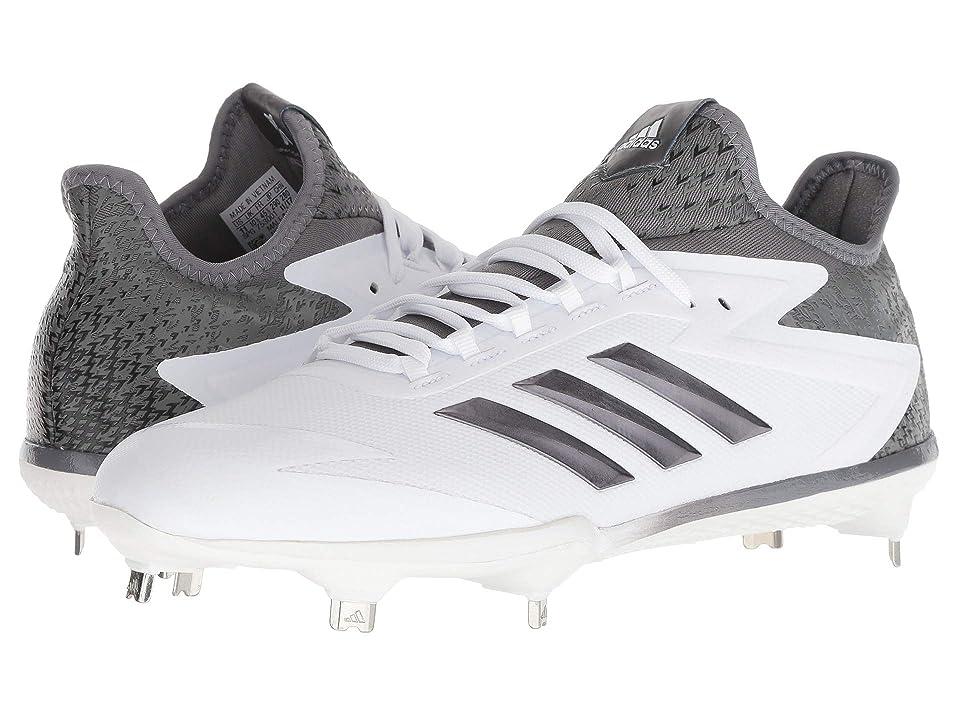 adidas adizero Afterburner 4 Cleats (Footwear White/Iron Metallic/Silver Metallic) Men