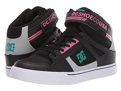 DC Kids Pure High-Top EV (Little Kid/Big Kid) (Black/Multi) Girls Shoes