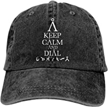 MIWOW Unisex Keep Calm and Stargate Earth Address Sun Cool Cowboy Snapback Hat Vintage Dad Running Baseball Caps