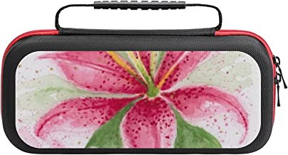 $26 » Colorful Watercolor Lily Case Compatible with Switch Case Protective Carry Bag Hard Shell Storage Bag Portable Travel Case...