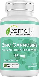 Sponsored Ad - EZ Melts Zinc Carnosine, 37 mg, Sublingual Vitamins, Vegan, Zero Sugar, Natural Lemon Flavor, 60 Fast Disso...