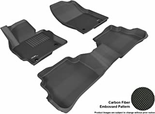 3D MAXpider Complete Set Custom Fit All-Weather Floor Mat for Select Mazda CX-5 Models - Kagu Rubber (Black)