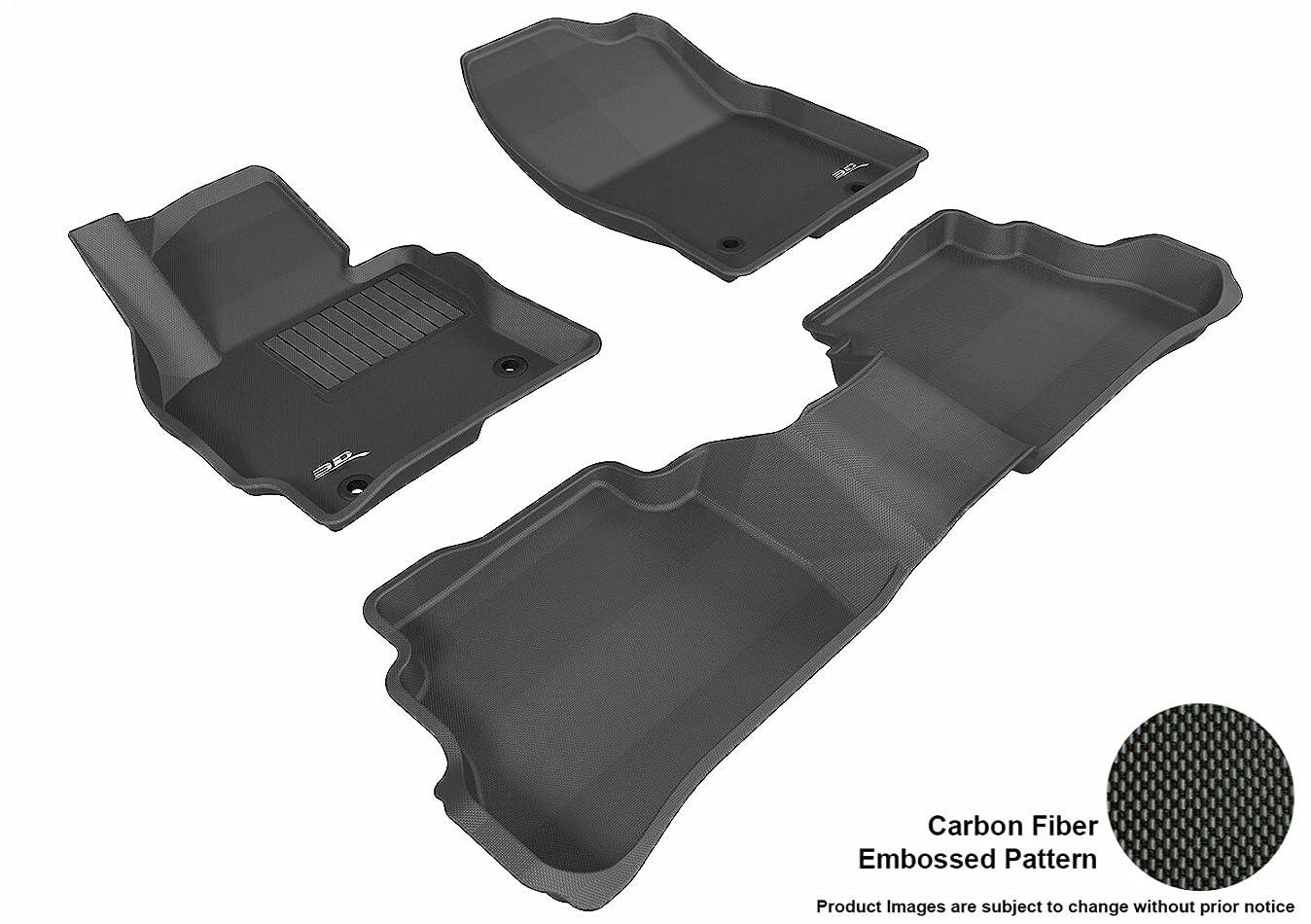 3D MAXpider Complete Set Custom Fit All-Weather Floor Mat for Select Mazda CX-5 Models - Kagu Rubber (Black) i9853791517