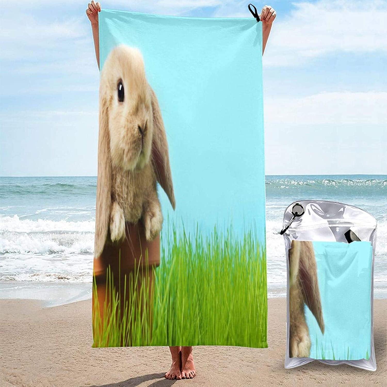 Baby Easter Bunny Microfiber Beach Women Towel Max 55% OFF Super Men Fashion Absor