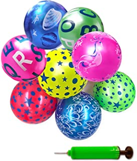 Mimgo-shop Party Favors Inflatable Beach Balls with Pump Outdoor Park and Beach Ball Toys for Adults