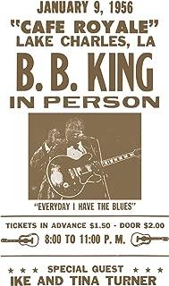"Per Diem Printing B. B. King - Cafe Royale - 13""x22"" Vintage Style Showprint Poster - Home Nostalgia Decor – Wall Art Print - Concert Bill"