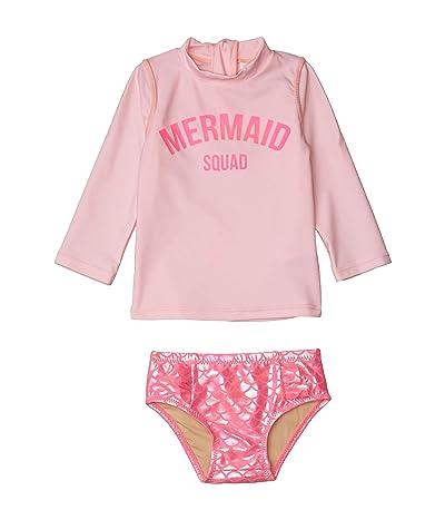 shade critters Mermaid Squad Rashguard Set (Infant/Toddler) (Pink) Girl