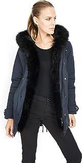 Dakota - Mujer Esquimal Fox - Parka Hood Abrigo de Piel sintética Invierno 2019 Chaqueta de Moda Chaqueta