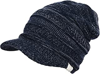 MIOIM Womens Winter Knitted Hats Slouchy Baggy Beret newsboy Beanie Cap With Visor