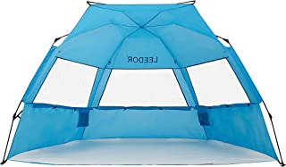 Leedor Beach Tent Sun Shelter Instant Beach Umbrella Easy Cabana with UPF 50+ UV Portable Windproof Pop Up Shade for 3 to ...