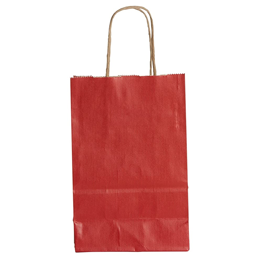 Jillson Roberts Recycled Small Gift Bags, Red Kraft (18-Count)