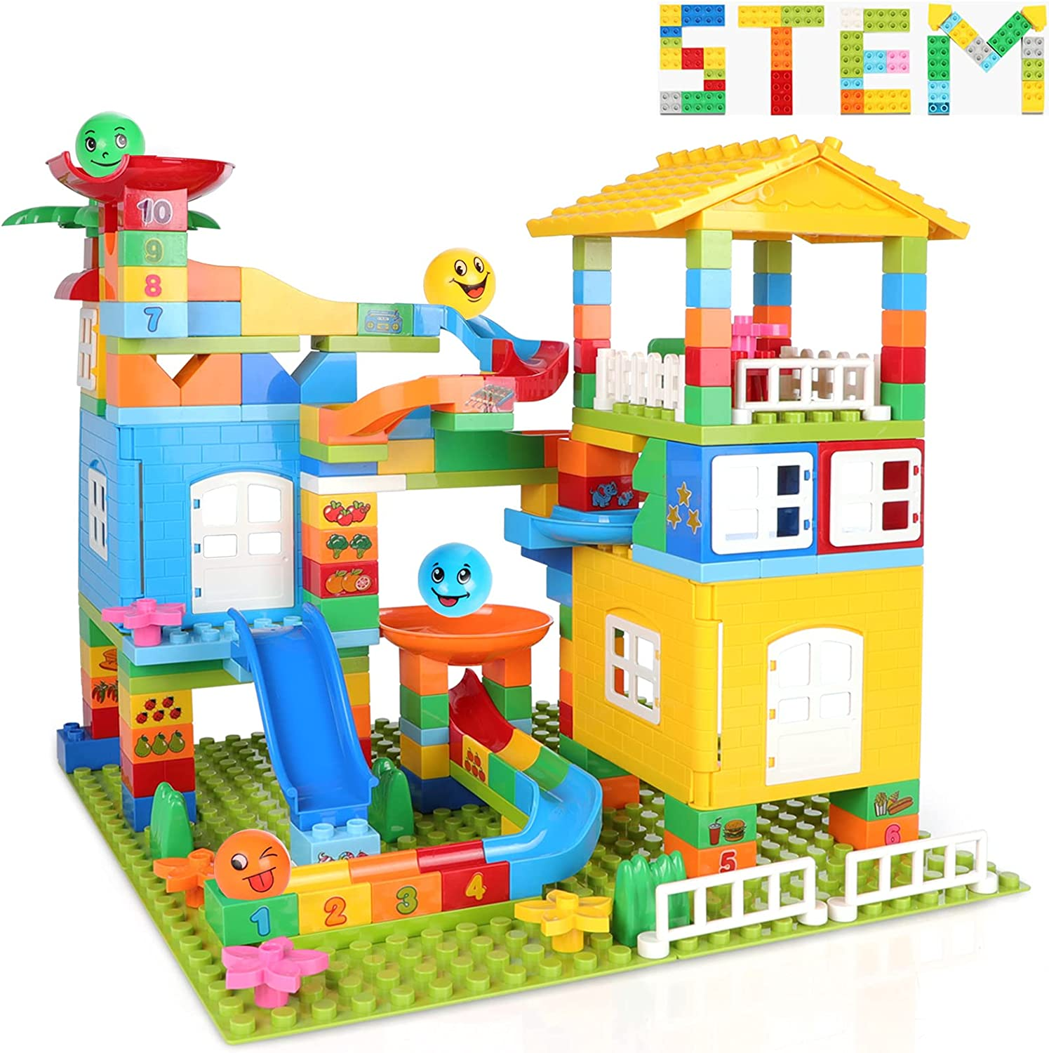 175 Max 46% 55% OFF OFF pcs Marble Run Castle Exercise Toddlers Building Blocks for