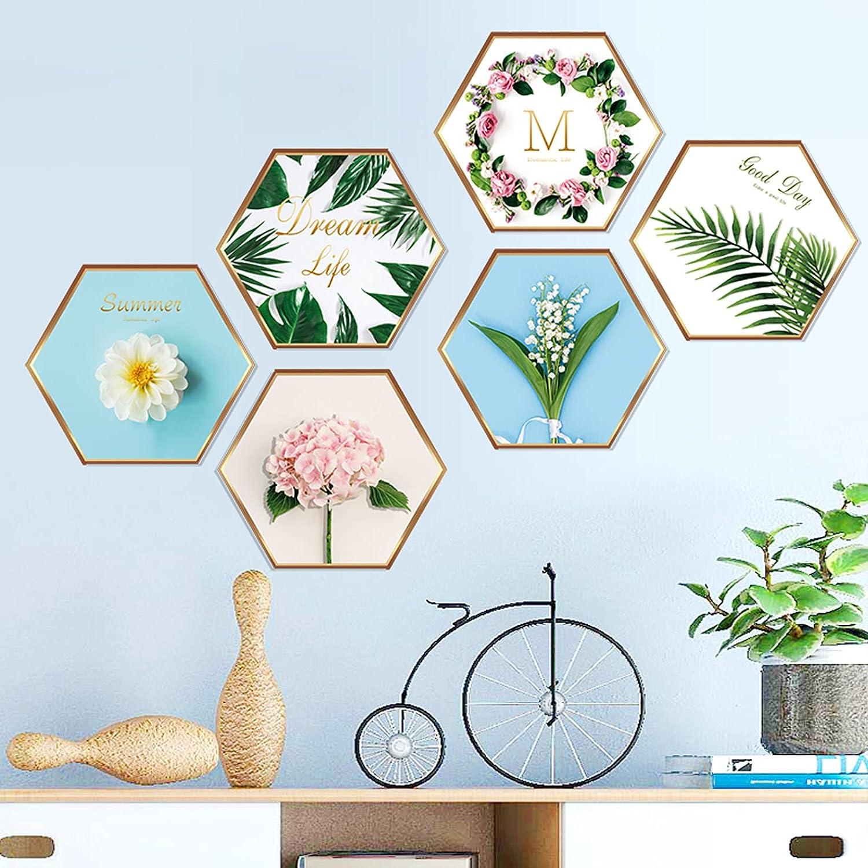 Superlatite National uniform free shipping Prabahdak Tropical Plants Wall Stickers Hexagon Deca Flower