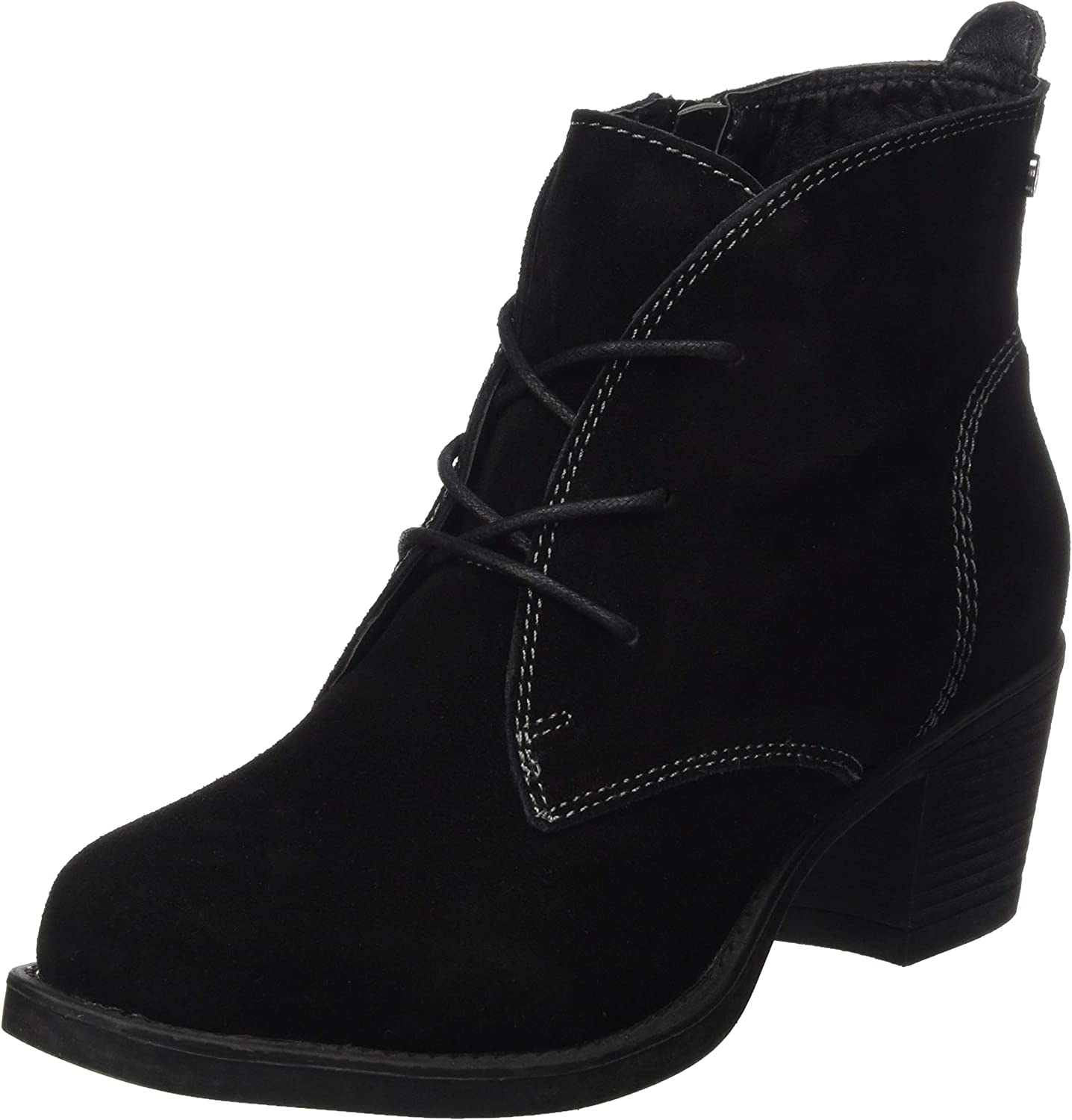 Hush Puppies Womens Moscow Laced Heel Boot Black Size UK 6 EU 39