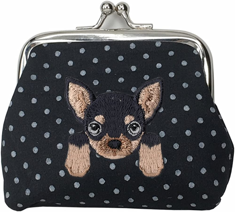 CHIHUAHUA Manufacturer regenerated product Cute Embroidered Puppy price Dog Buckle Walle Coin Purse