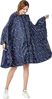 NUUR Poncho de Lluvia para Mujer, Capa de Lluvia para Moto,