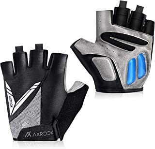 AXRCCK Cycling Gloves for Men Bike Gloves Half Finger Gym Cycling Roller Skating and Climbing in Summer Gift Black M/L/XL