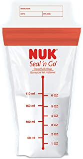 NUK Simply Natural Seal n' Go Breast Milk Bags, 100CT