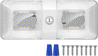 Kriogor LED Innenbeleuchtung Auto, 12V 48LED 600LM RV KFZ Beleuchtung Deckenleuchten mit ON/OFF Schalter, Universal für Camping Auto RV LKW Wohnwagen Wohnmobil Boot